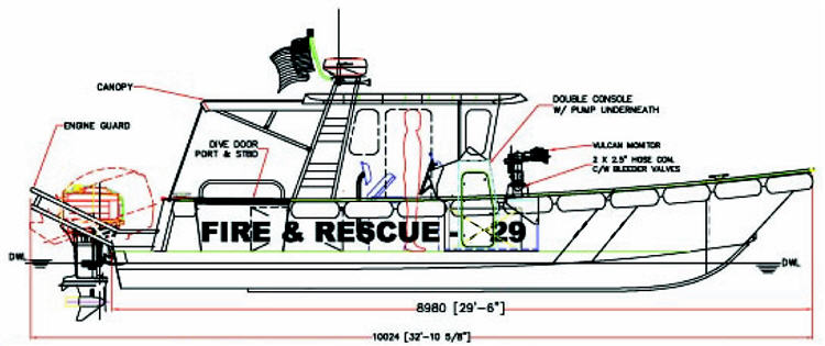 MetalCraft Marine FireRescue 29 drawing