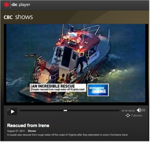 Newport News' FireStrom 30 rescue during hurricane Irene