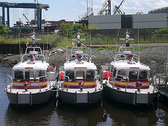 three new high-speed 30 foot aluminum CBRNE fireboats for Providence, East Providence and Cranston Fire Departments