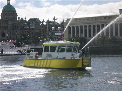 City of Victoria new FireStorm 30 high speed aliminum fire boat