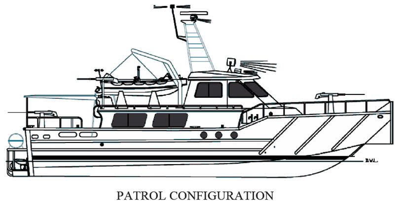 MetalCraft Marine Kingston 54-60 Crew Boat drawing