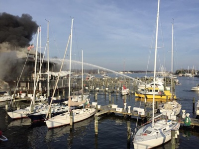 Annapolis Yacht Club fire.