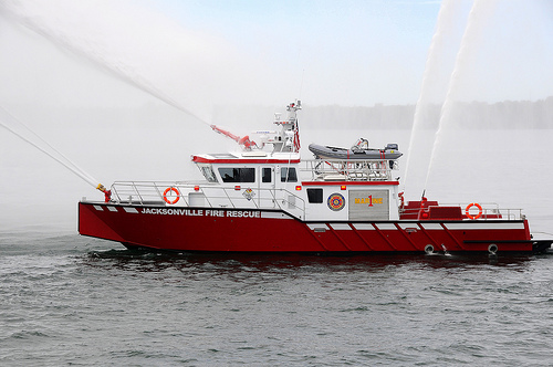 Jacksonville's new high speed aluminum fireboat by MetalCraft Marine